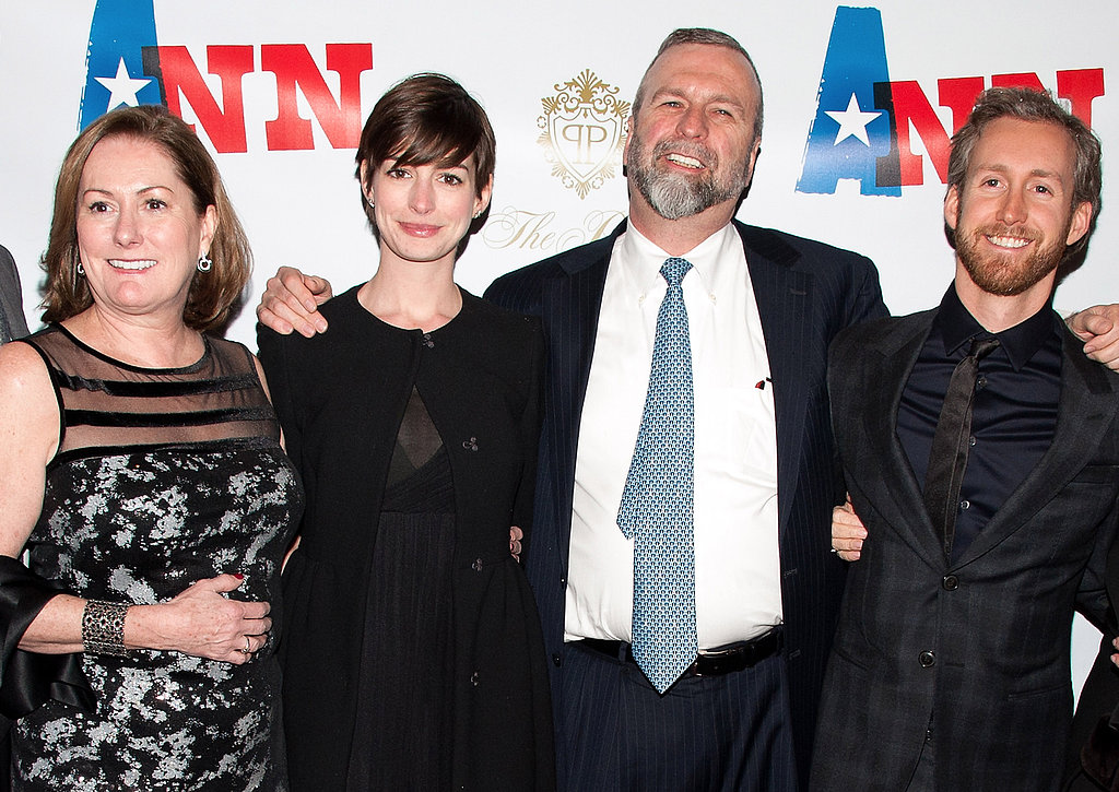 Anne Hathaway and Adam Shulman Join Her Family For a Play Premiere