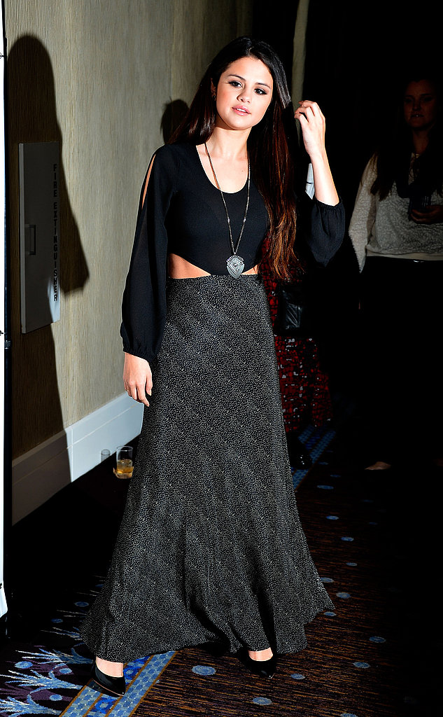Selena Gomez Goes Dark For Children's Charity Dinner