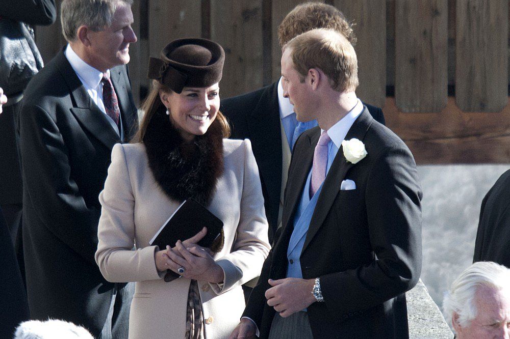 Kate Middleton and Prince William attended a friend's wedding in the Swiss Alps with Prince Harry.