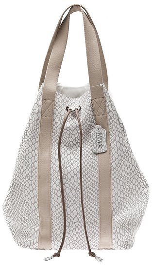For the high-fashion-minded girl, we suggest this slick Maison Martin Margiela Embossed Leather Backpack ($560).