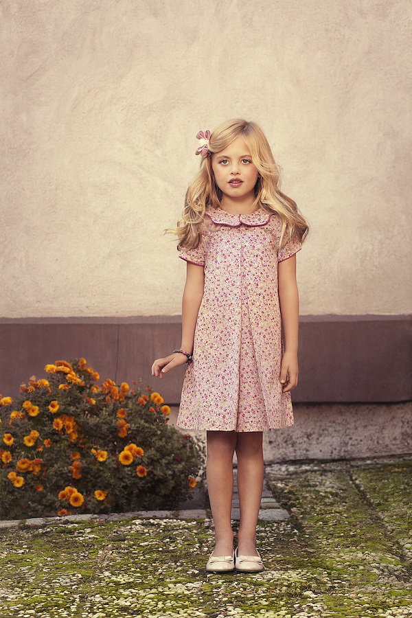 """Emi's"" Pink Rosebud Party Dress ($150) was designed for the warm and friendly 6 year old who resides in Tokyo and has a passion for animals and wildlife."