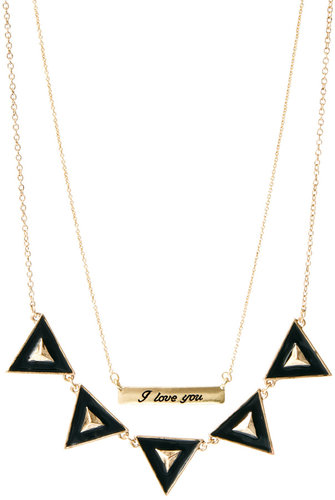 ASOS Two Pack Love Bunting Necklaces
