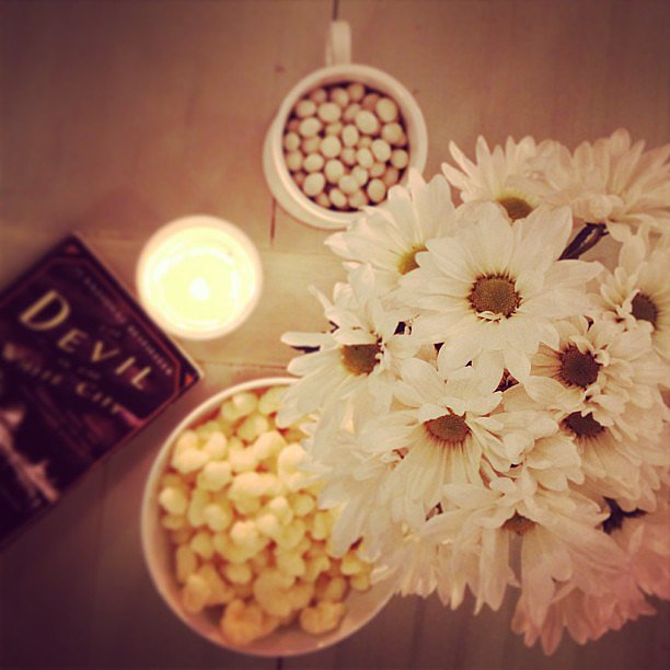 When I hosted book club for The Devil in the White City, I went with an all-white theme.