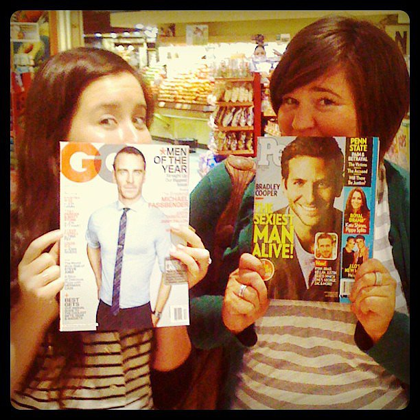 "My best friend and I picked up some magazines ""for the articles."""