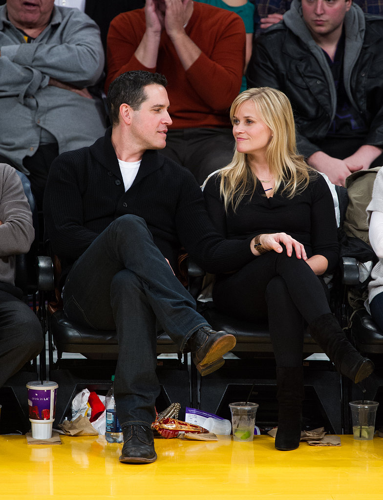 Reese Witherspoon and her husband, Jim Toth, shared a moment.