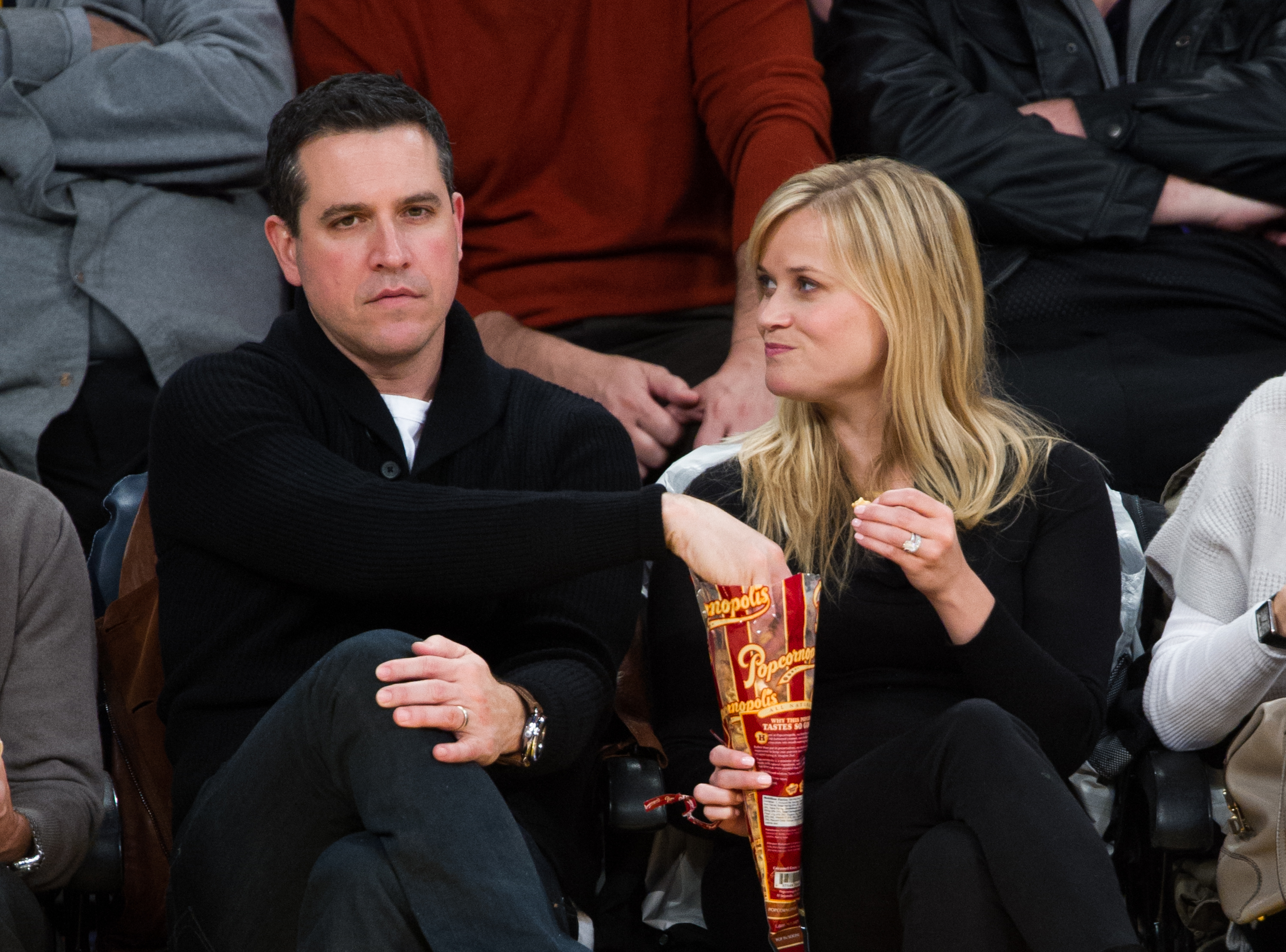 Reese Returns to LA For an Emotional Basketball Night With Her Husband