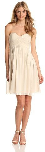 Donna Morgan Women's Strapless Sweetheart Chiffon