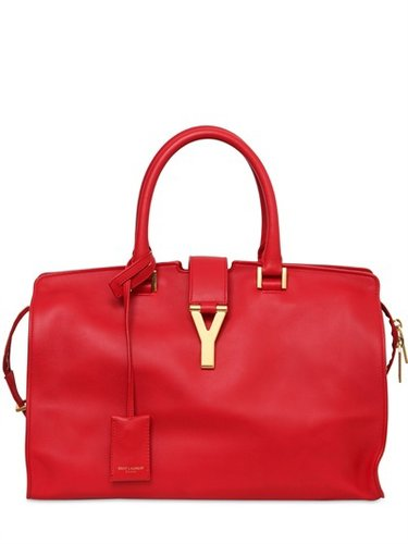 Medium Cabas Y Brushed Leather Bag