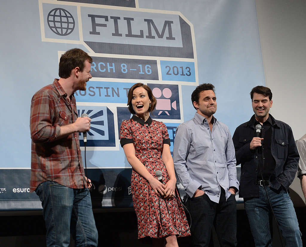Olivia Wilde joined her Drinking Buddies costars for a panel at SXSW.