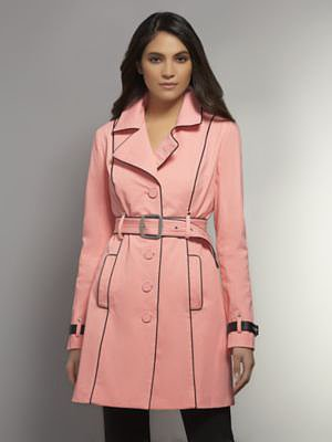 The NY Trench - Faux Leather Piping