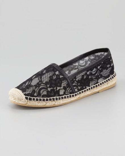 Bettye Muller Flat Lace Espadrille, Black