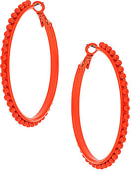 Neon coral coloured hoops