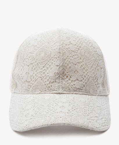 FOREVER 21 Crocheted Baseball Cap