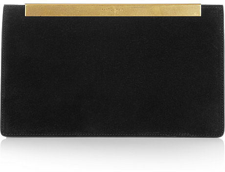 Saint Laurent Lutetia suede clutch