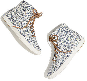 Keds® x madewell floral high-top sneakers