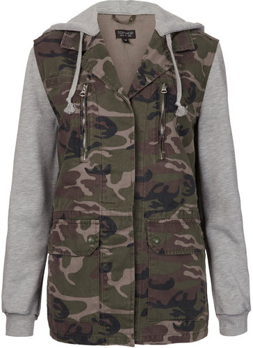 Jersey Sleeved Camo Jacket