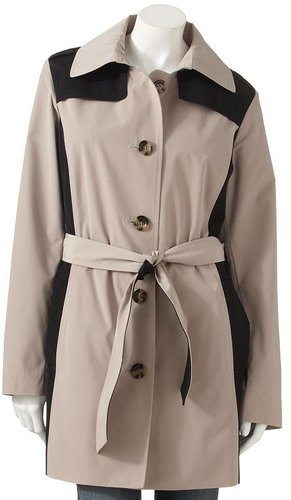 Towne by london fog colorblock trench coat