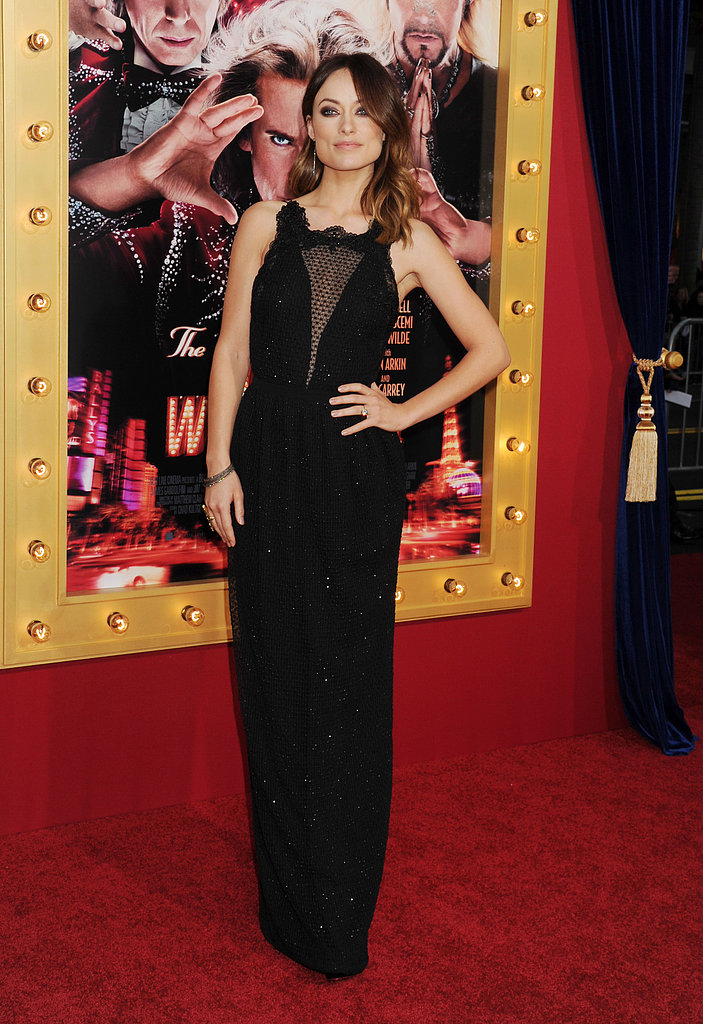 Olivia Wilde wore a black Gucci dress.