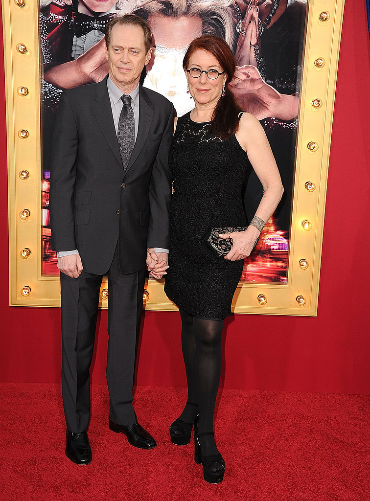 Steve Buscemi wore a simple suit to the premiere.