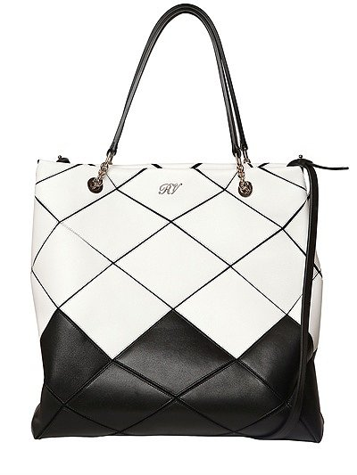Prismick Two Tone Leather Tote