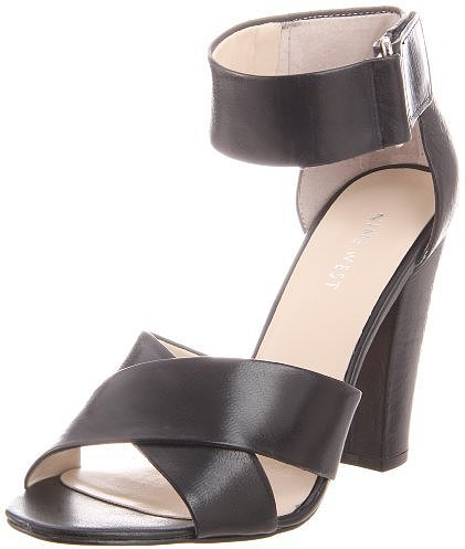 Nine West Women's Pamper Chunky Ankle-Strap Sandal