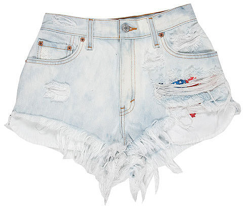 Vintage Denim Cut Off Shorts  in Faded Denim - by RUNWAYDREAMZ