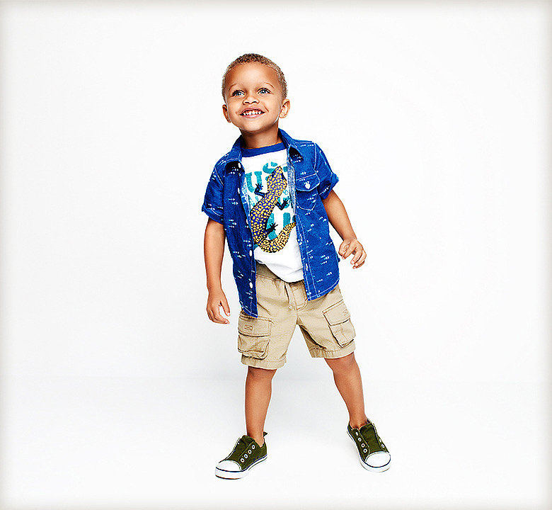 Summer Fun Woven Shirt, Graphic Tee, and Cargo Shorts