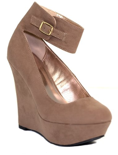 Worthy Platform Wedge Heel in Taupe