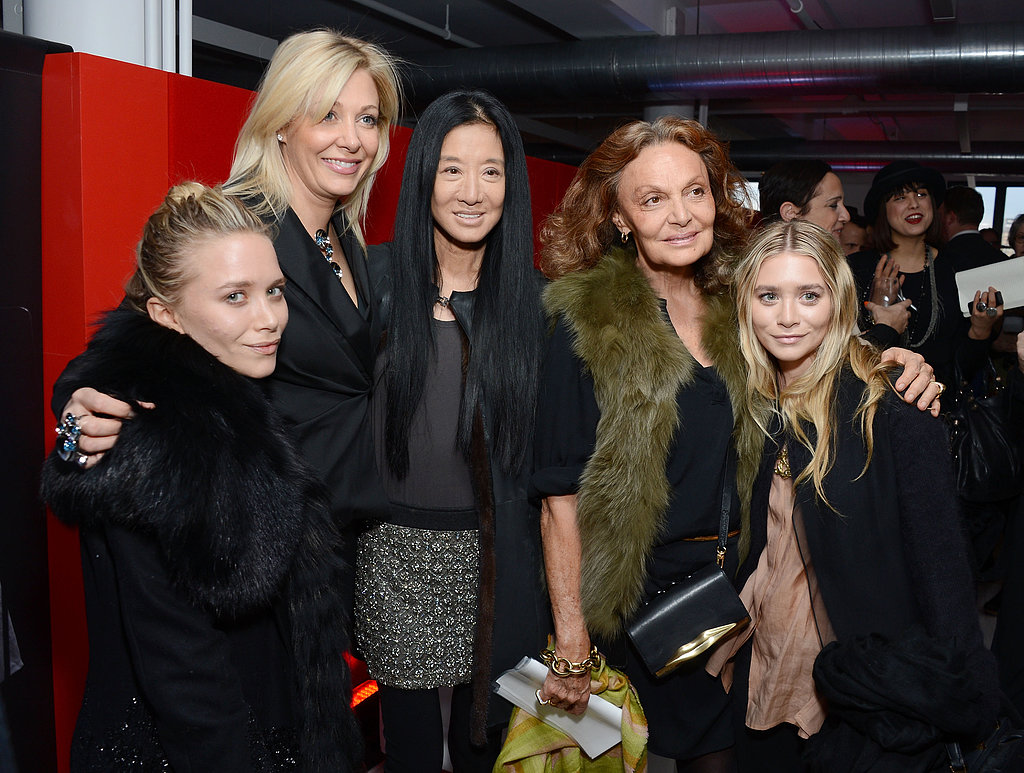 Mary-Kate and Ashley Olsen posed with Nadja Swarovski, Vera Wang, and Diane Von Furstenberg.