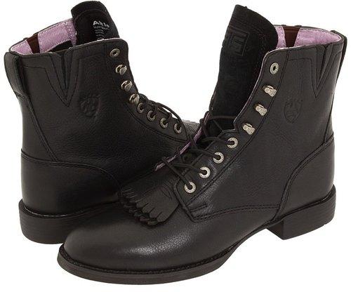Ariat - Heritage Lacer II (Black Deertan) - Footwear