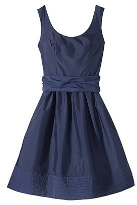 Women's Scoop Neck Taffeta Dress w/Removable Sash - Assorted Colors