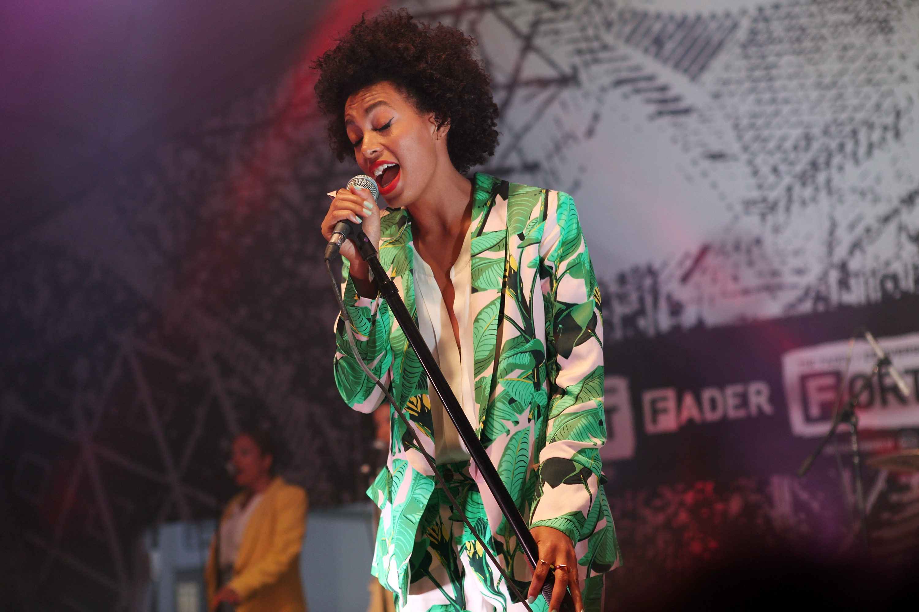 Solange Knowles took the stage at an event presented by Converse.