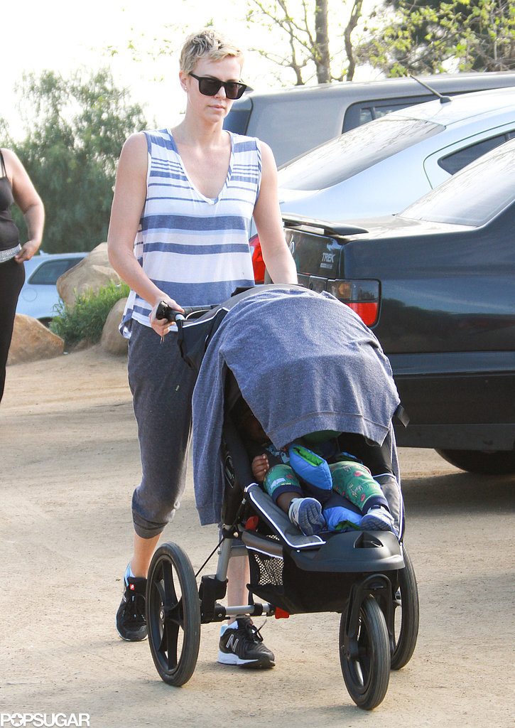 Charlize Theron Takes a Hollywood Hike With Jackson
