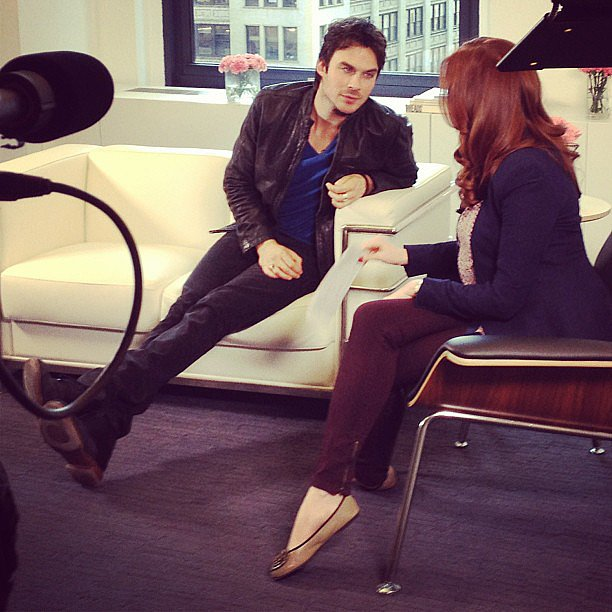Yes, Ian Somerhalder is just as attractive in person as he is on The Vampire Diaries.