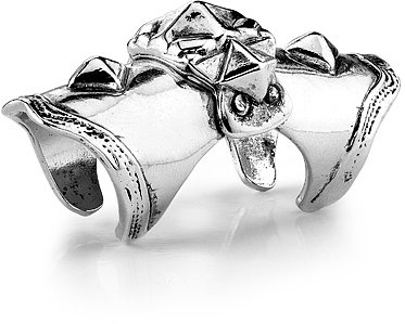 Low Luv - Armor Knuckle Ring - Silver Plated