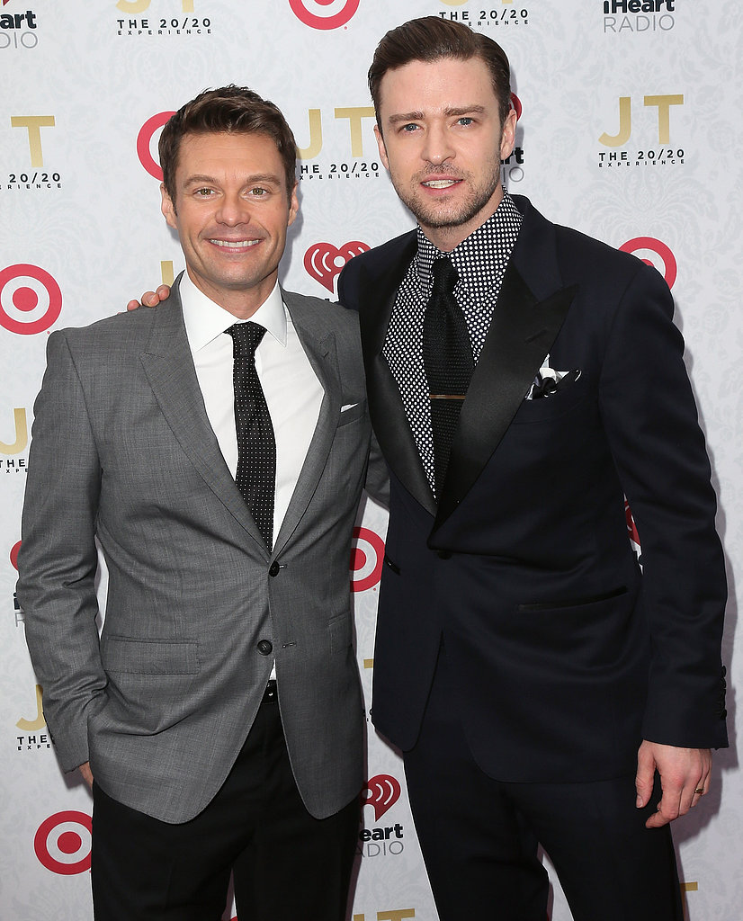 Justin Timberlake met up with Ryan Seacrest on the red carpet.