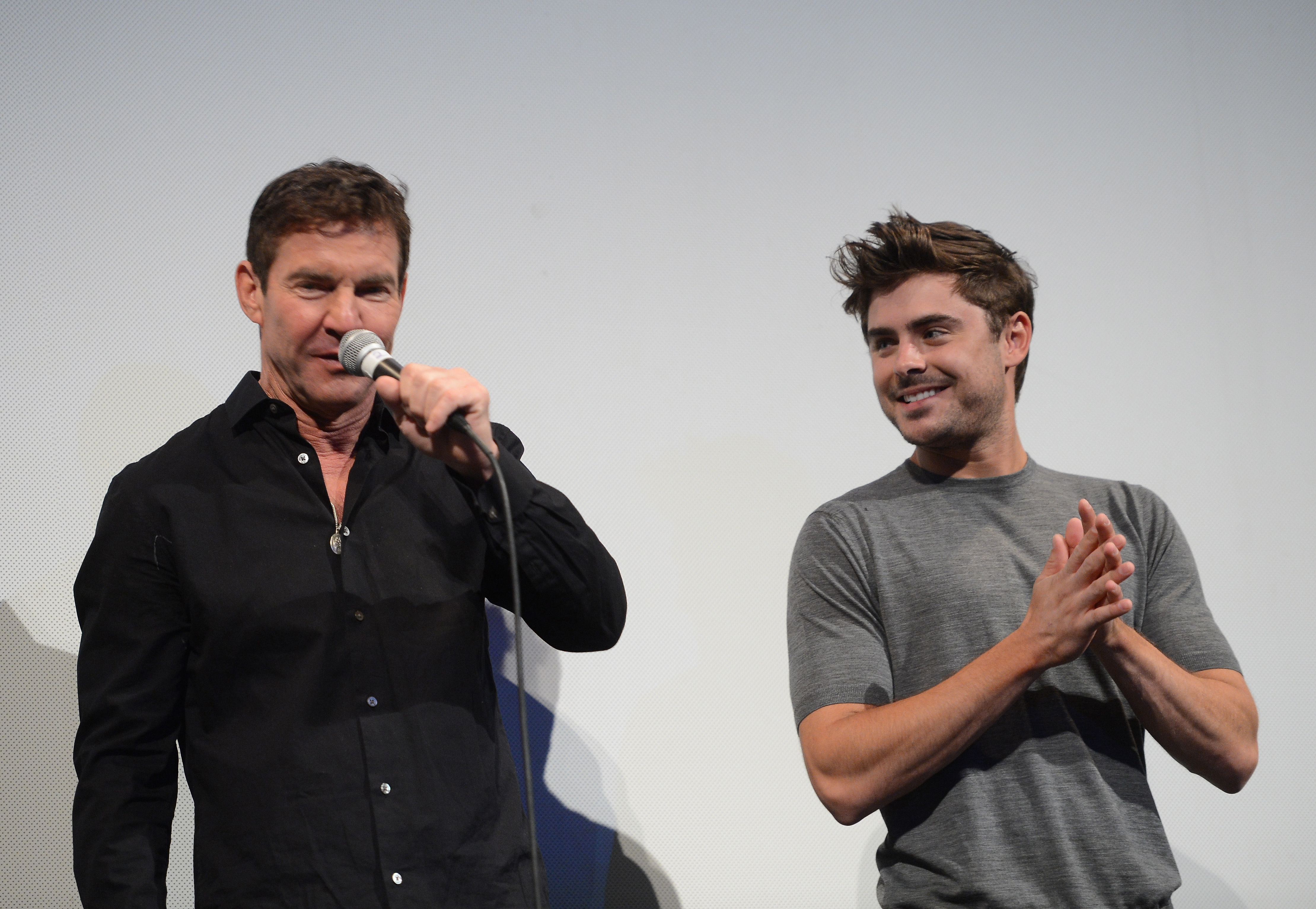 Zac Efron and Dennis Quaid attended a Q&A for their film At Any Price at SXSW.