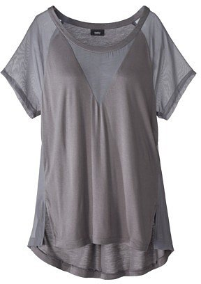 Mossimo® Women's Short Sleeve Tee w/Sheer Front - Assorted Colors