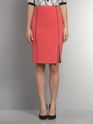 The Crosby Street Double Stretch Piped Skirt