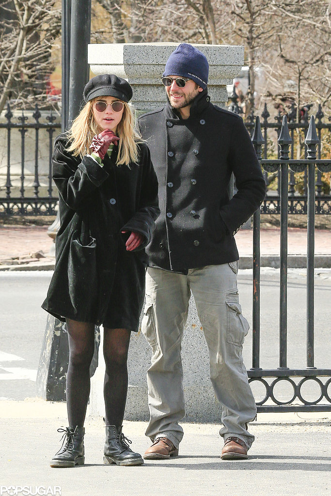 Bradley Cooper and Suki Waterhouse walked around Boston Common.
