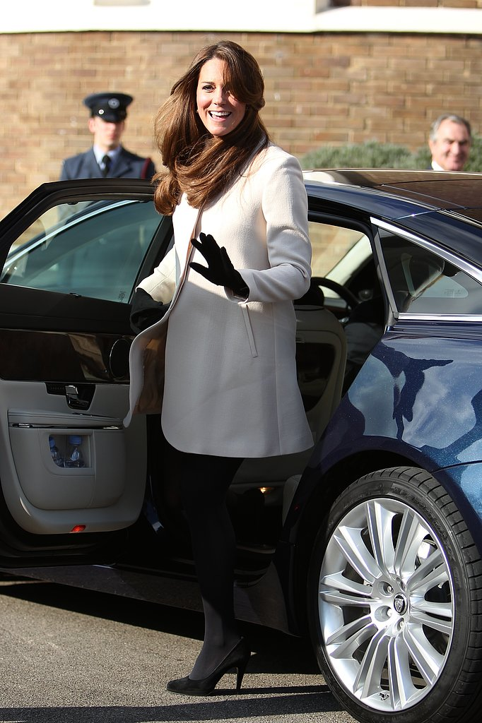 Kate Middleton Shines in White For an Official Visit With Prince William