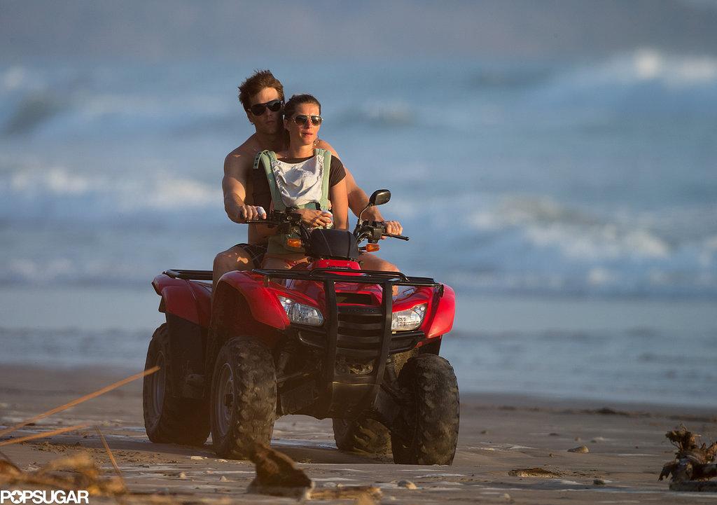 Tom Brady and Gisele Bündchen rode on an ATV with Vivian.