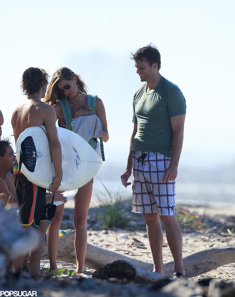 Tom Brady and Gisele Bündchen showed off Vivian to friends.