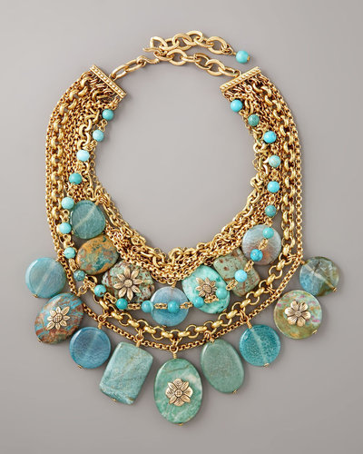 Stephen Dweck Turquoise Pebble Necklace