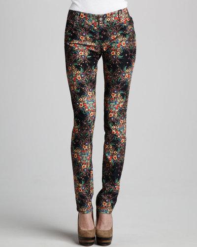 Alice + Olivia Ditsy Floral-Print Jeans