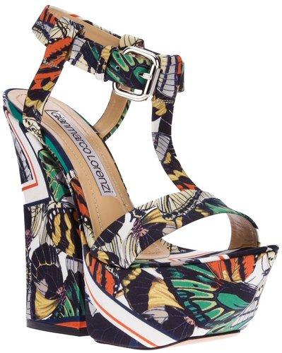 Gianmarco Lorenzi printed platform sandal