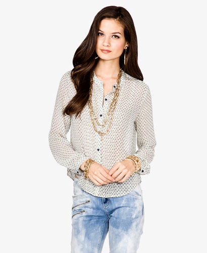 FOREVER 21 Dotted Floral Blouse