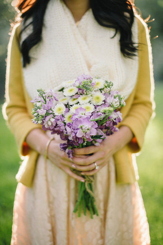 Hold a Bouquet of Wildflowers