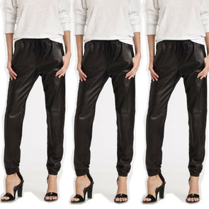 Trending: Shop the Best Baggy Leather Jogger Pants