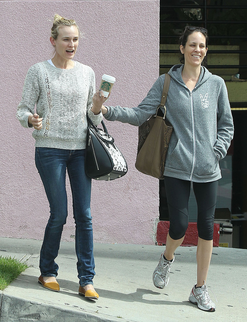 Diane Kruger was joined by a friend for a coffee run.